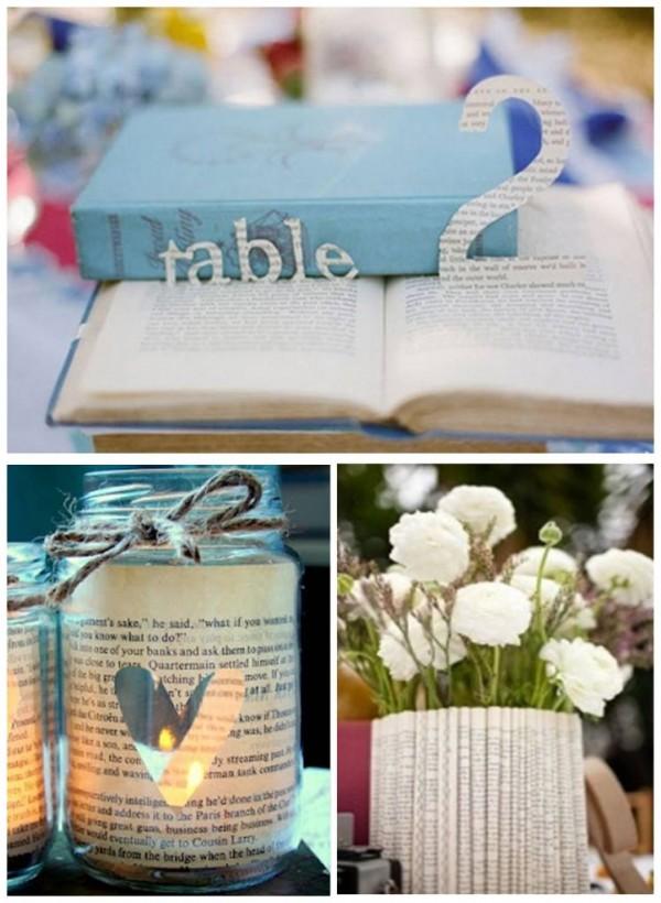 השראה לחתונה בנושא ספרים
