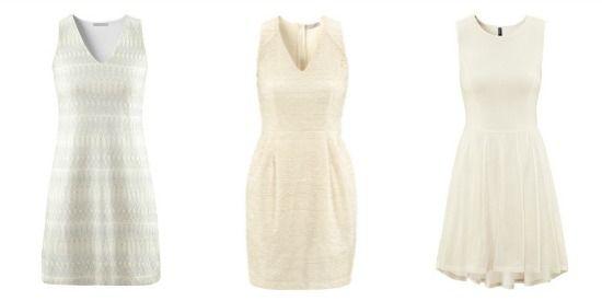 שמלה פשוטה לבנה