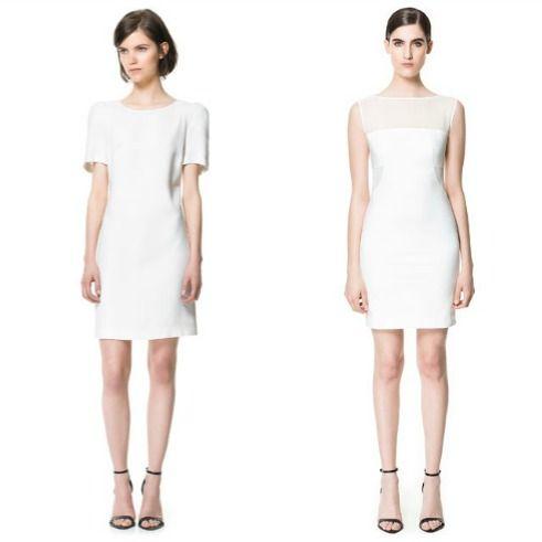 שמלה לבנה אלגנטית