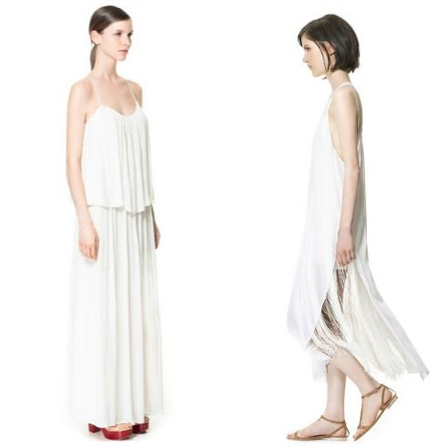 שמלה לבנה פשוטה